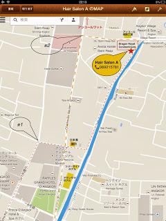 カンボジア『ヘアーサロンA』地図マップ画像